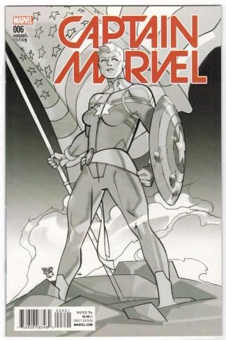 Captain Marvel #6 Pasqual Ferry Variant Civil War II Marvel 2016 VF/NM