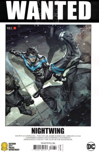 Nightwing #84 1:25 Kael Ngu Wanted Variant DC 2016 Fear State