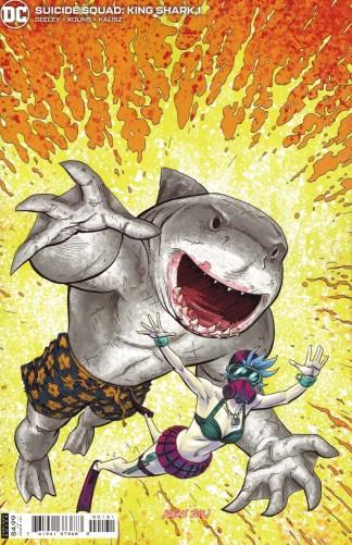 Suicide Squad King Shark #1 1:25 Scott Kolins Variant DC 2021