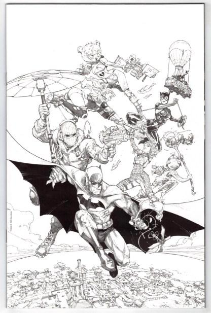 Batman Fornite Zero Point Batman Day 2021 #1 1:100 Janin B&W Variant DC 2021 NM-