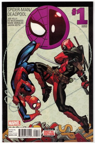 Spider-Man Deadpool #1 4th Print McGuinness Variant Marvel 2016 VF/NM