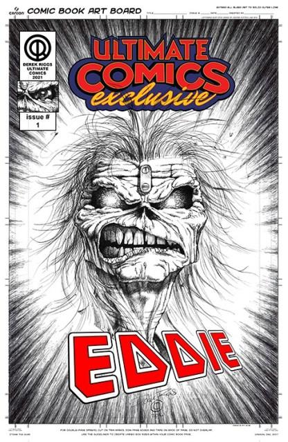 Derek Riggs Creator of Iron Maiden Mascot Eddie Exclusive Art Print Eddie Headshot Signed! -Pre-Order 10/30