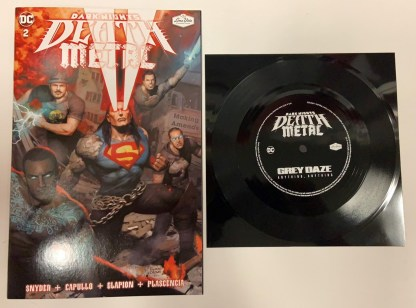 Dark Nights Death Metal #2 Loma Vista Grey Daze Flexi Disc Variant DC 2021