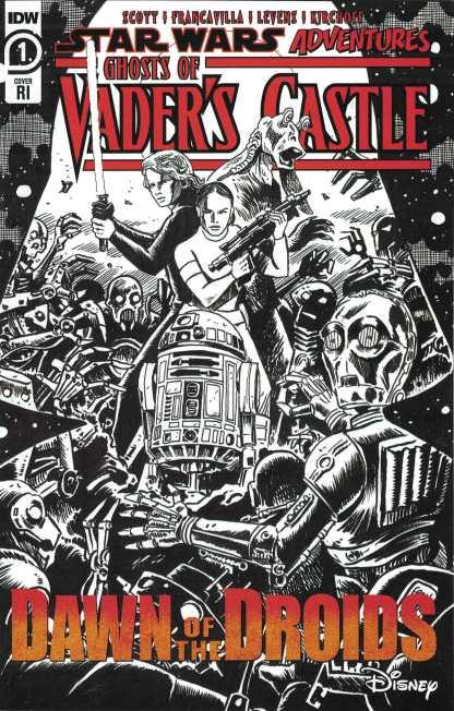 Star Wars Adventures Ghost of Vaders Castle #1 1:10 Francavilla Variant IDW 2021