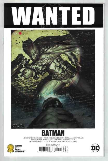 I Am Batman #1 1:25 Kael Ngu Wanted Variant Fear State DC 2021 NM-