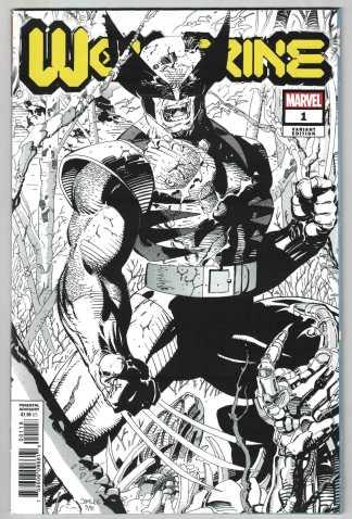 Wolverine #1 1:500 Jim Lee Hidden Gem Sketch Variant 2020 DX Dawn of X-Men VF/NM