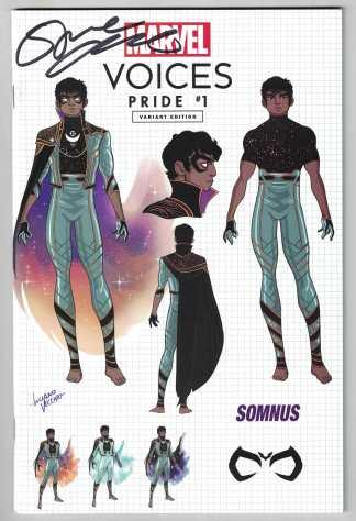 Marvels Voices Pride #1 Exclusive Vecchio 1st Somnus Design Variant 2021 Signed