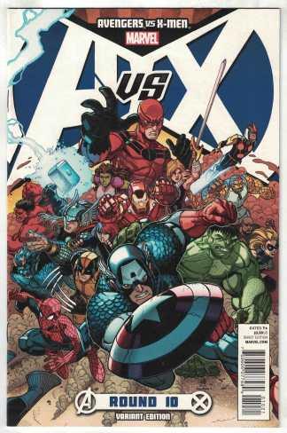 Avengers vs X-Men #10 1:100 Bradshaw Variant Brubaker Marvel 2012 VF/NM