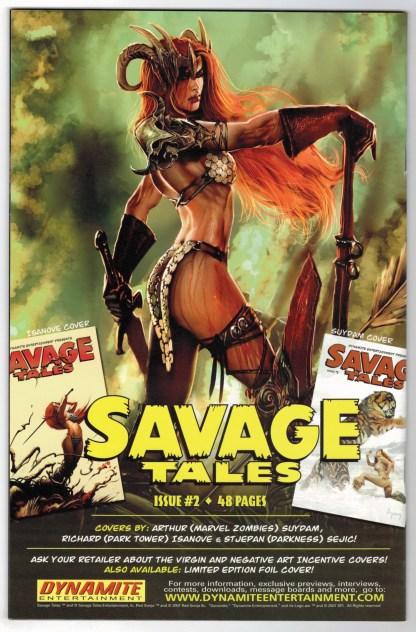 Savage Tales #1 Arthur Suydam Cover Dynamite 2007 VF/NM