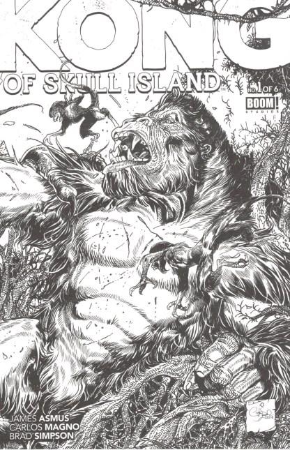 Kong of Skull Island #1 Carlos Magno Coloring Book Variant Boom 2016
