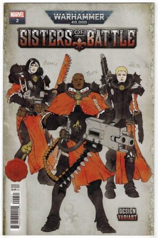 Warhammer 40k Sisters of Battle #2 1:10 Salazar Design Variant Marvel 2021 VF/NM