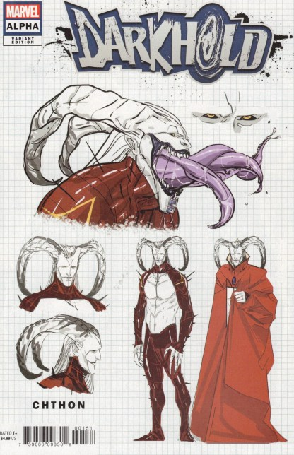 Darkhold Alpha #1 1:10 Cian Tormey Design Variant Marvel 2021