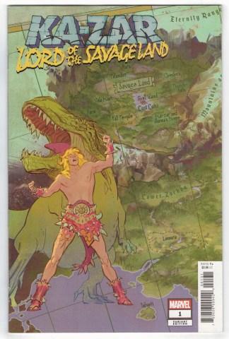 Ka-Zar Lord of the Savage Land #1 1:10 Garcia Map Variant Marvel 2021 VF/NM