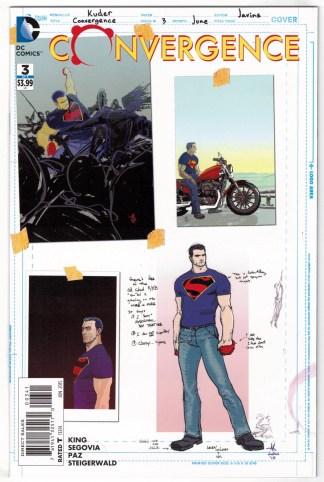 Convergence #3 1:100 Aaron Kuder Superman Design Variant DC 2015 VF/NM