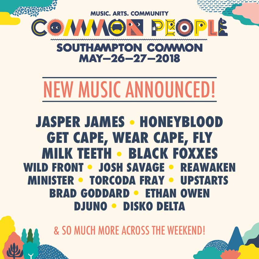 Common People Festival 2018 Southampton new acts