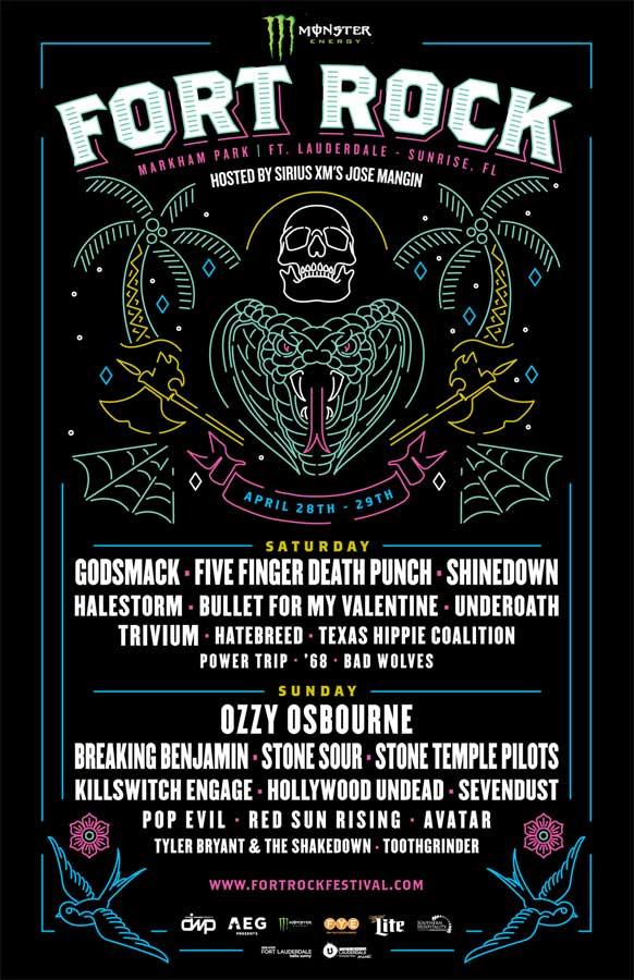 Fort Rock Fest 2018 poster