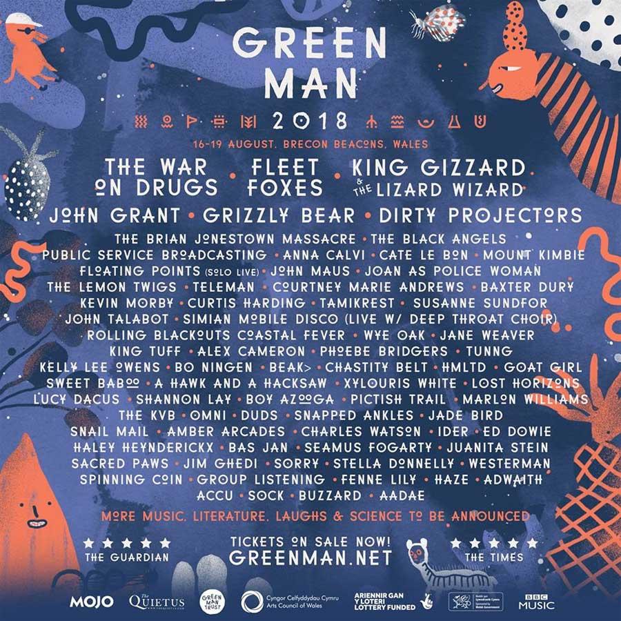 Green Man Festival 2018 UK poster