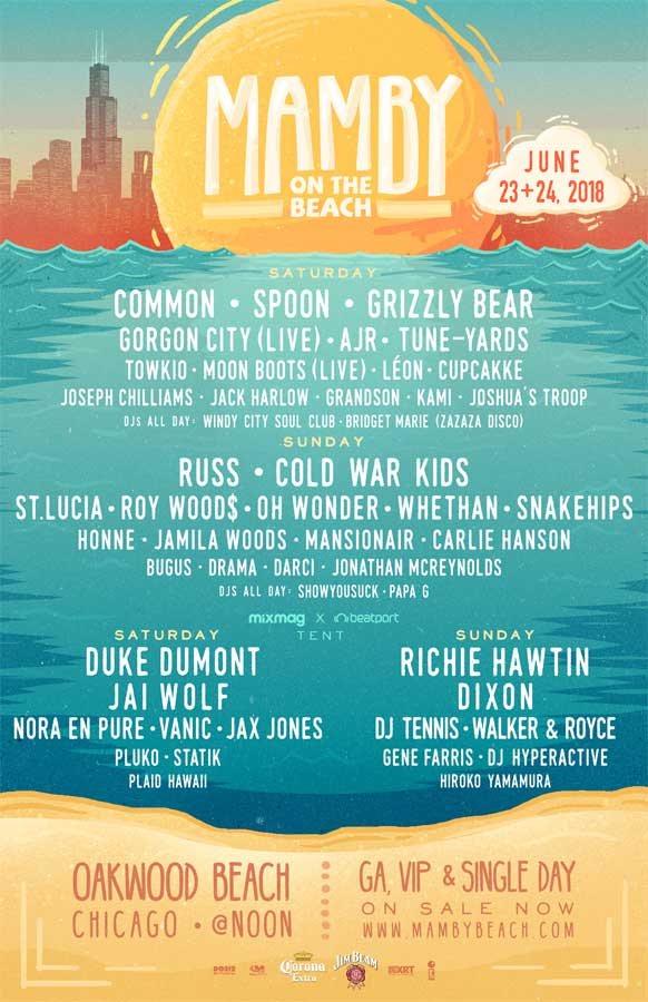 Mamby on the Beach 2018 poster