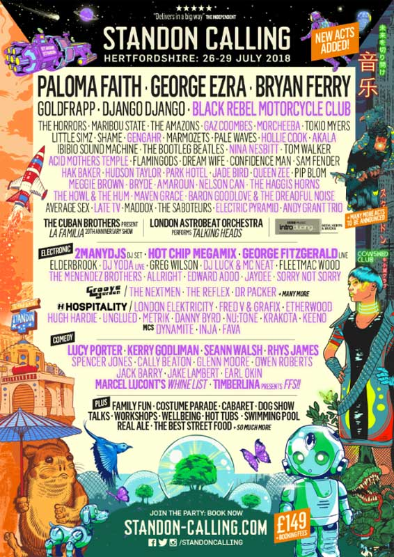 Standon Calling 2018 poster