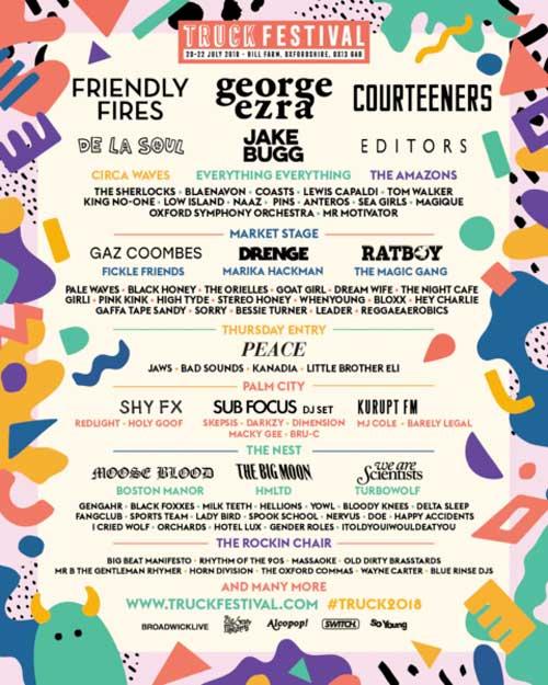 Truck Festival 2018 UK poster