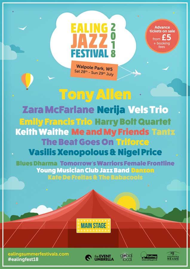 Ealing Jazz Festival 2018 poster