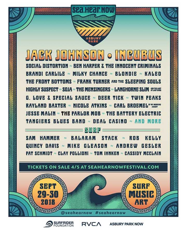 Sea Hear Now Festival 2018 New Jersey poster