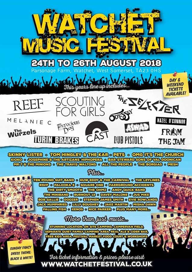 Watchet Festival 2018 UK poster