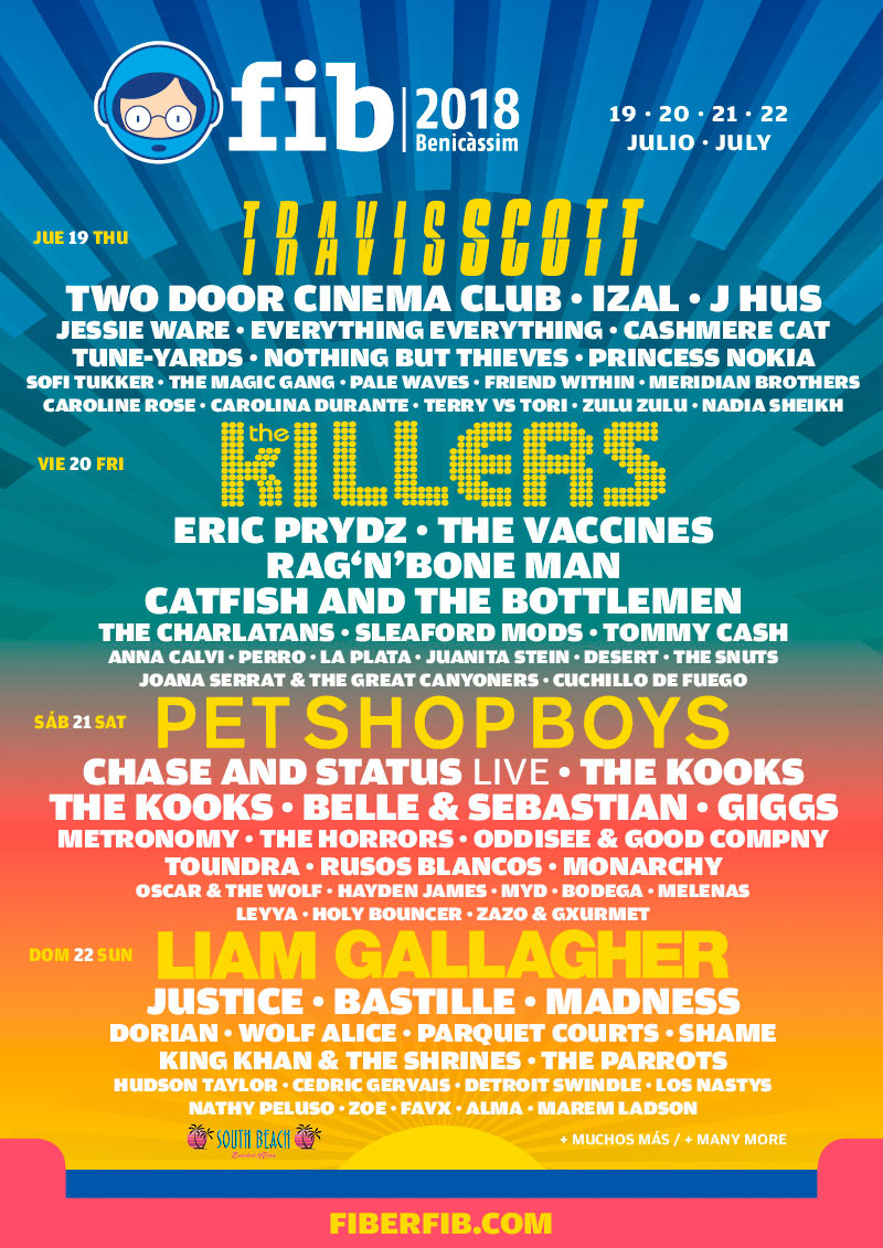 Benicassim Festival 2018 new acts poster