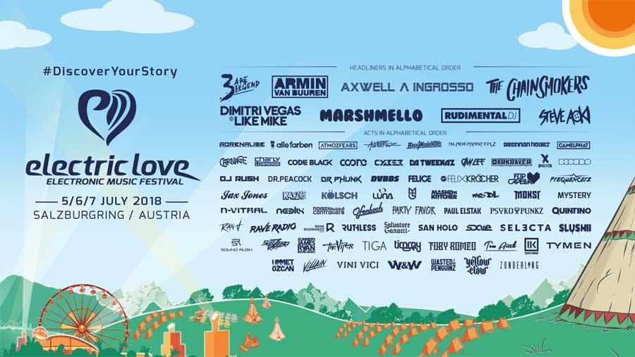 Electric Love Festival 2018 in Austria final poster