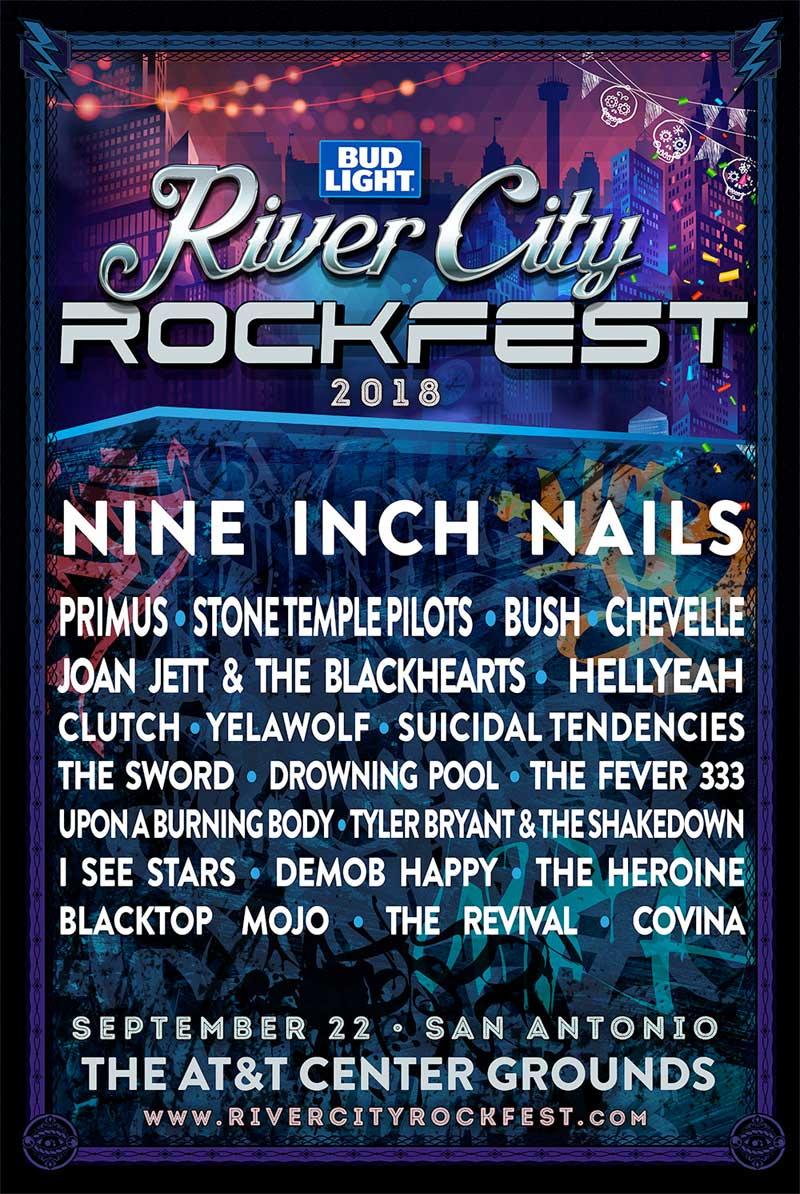 River City Rockfest 2018 in Texas poster