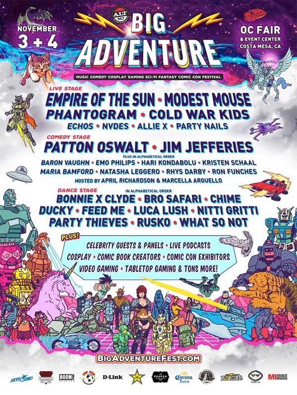 Big Adventure Fest 2018 California poster