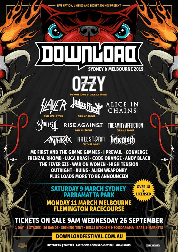 Download Festival Australia 2019 poster
