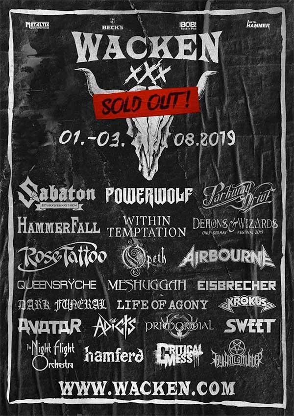 Wacken Open Air 2019 poster
