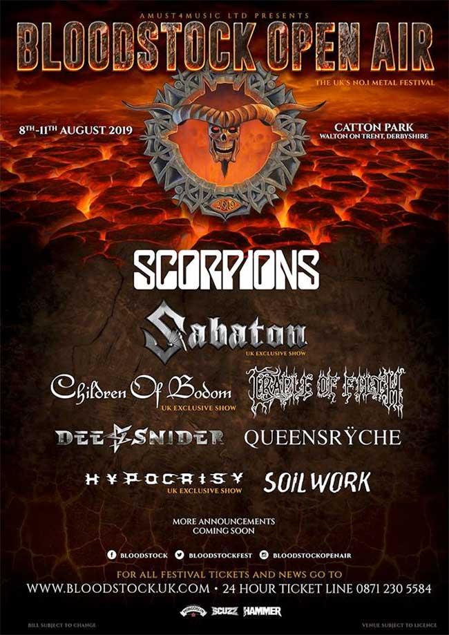 Bloodstock Festival UK poster Scorpions 2019