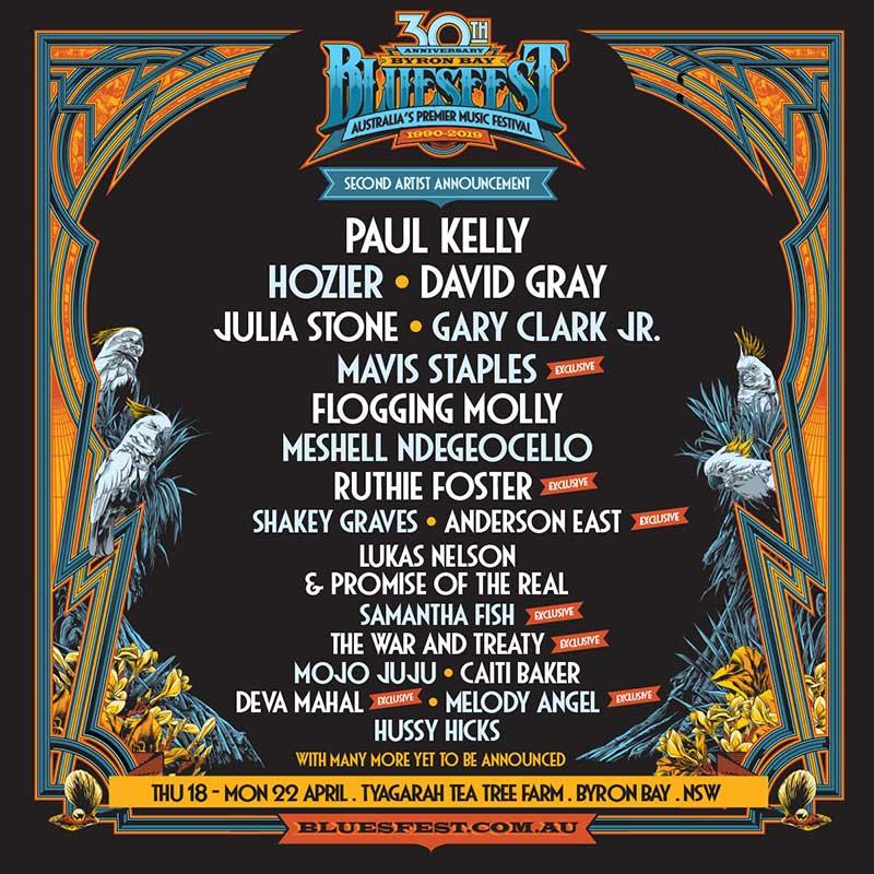 Bluesfest Australia 2nd announcement poster