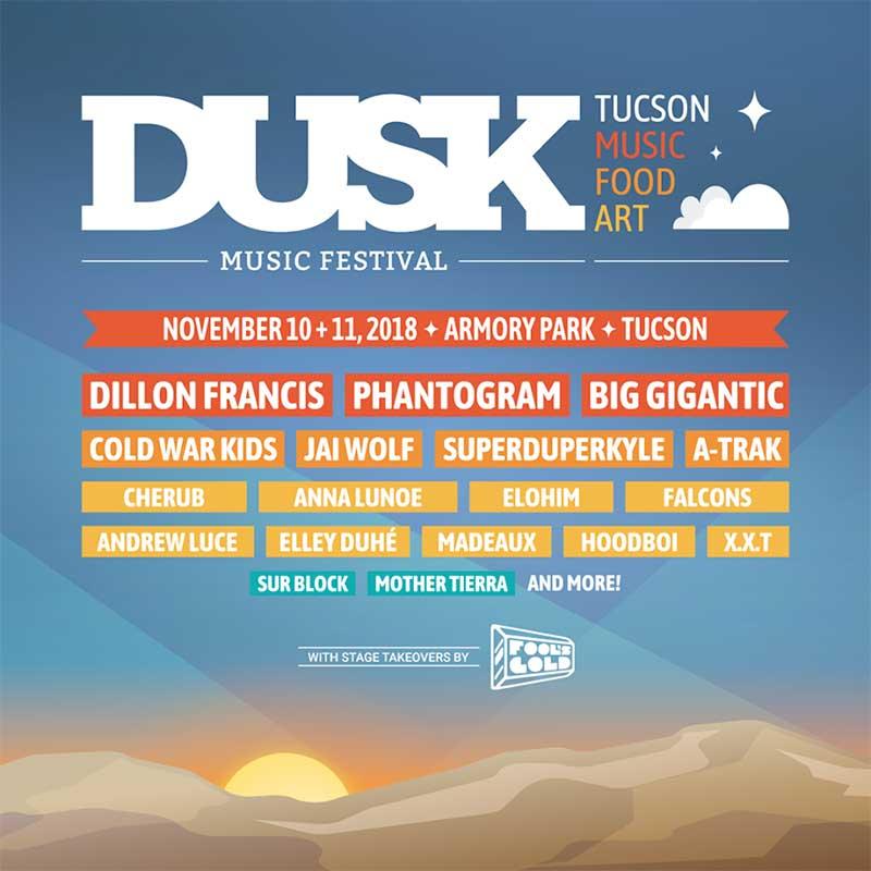 Dusk Music Festival 2018 in Arizona poster