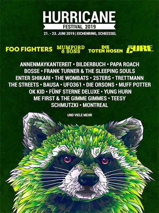 Hurricane Festival 2019 headliners poster Germany