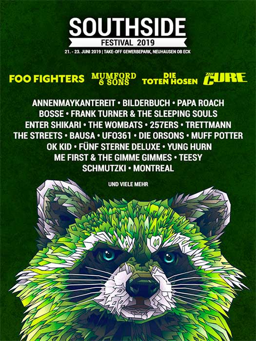 Southside Festival 2019 headliners poster Germany