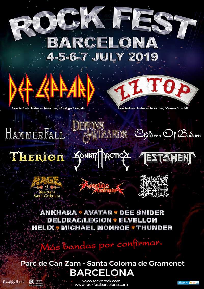 Rock Fest Barcelona 2019 poster
