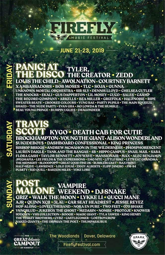 Firefly Music festival USA 2019 poster