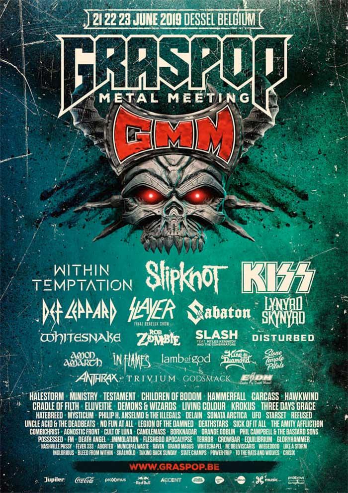 Graspop Metal Meeting 2019 81 confirmed bands poster