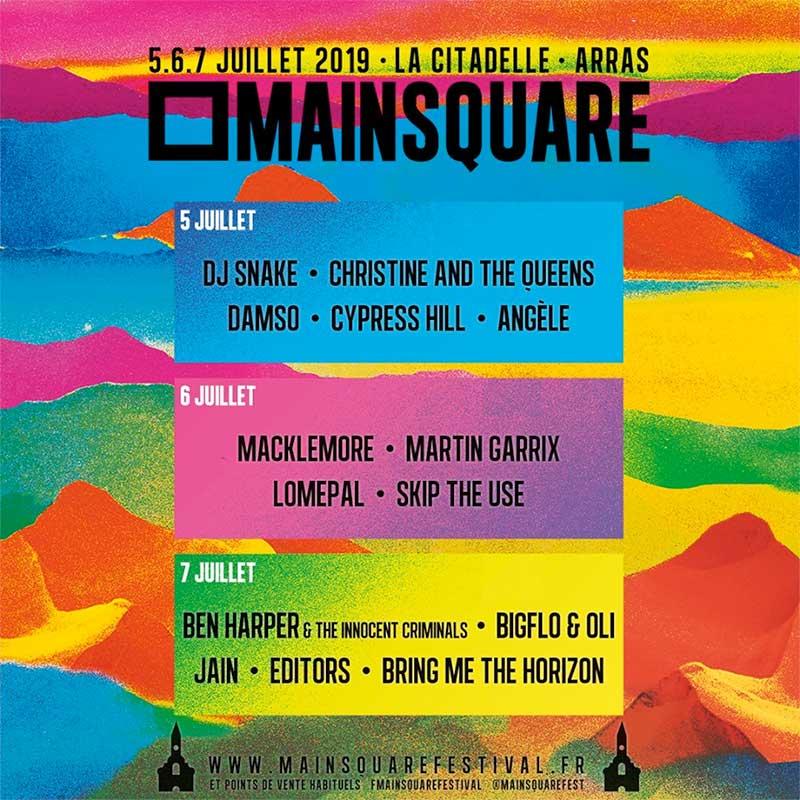 Main Square Festival 2019 France poster