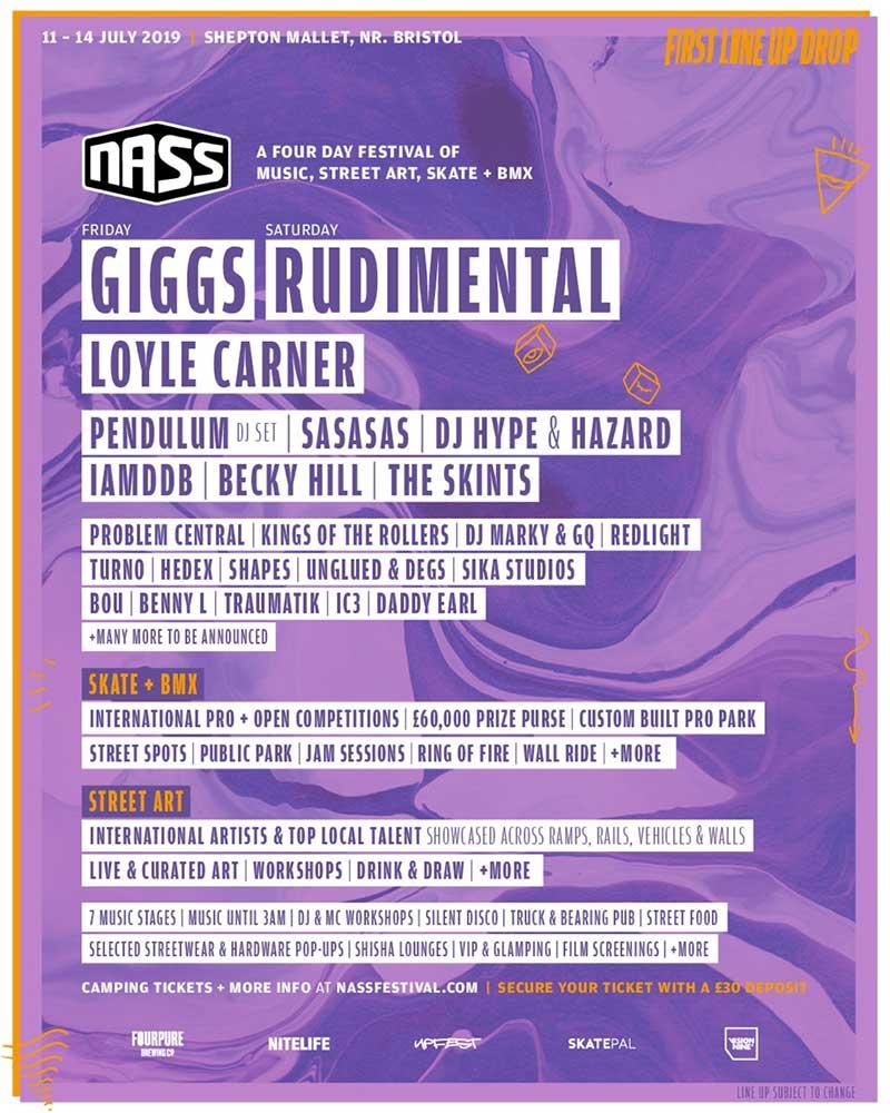 NASS Festival 2019 first bands poster