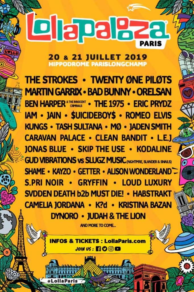 Lollapalooza Paris 2019 poster