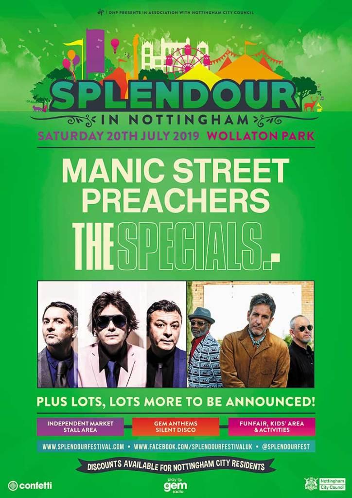 Manic Street Preachers and The Specials Splendour Festival UK poster