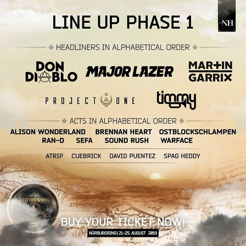 New Horizons Festival phase 1 line up poster