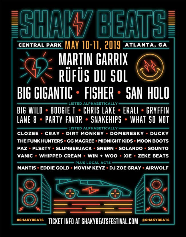 Shaky Beats Festival 2019 poster