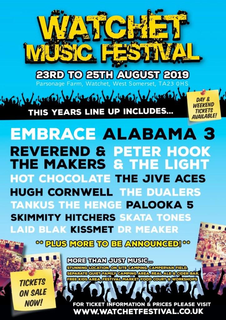 Watchet Live Festival 2019 UK poster
