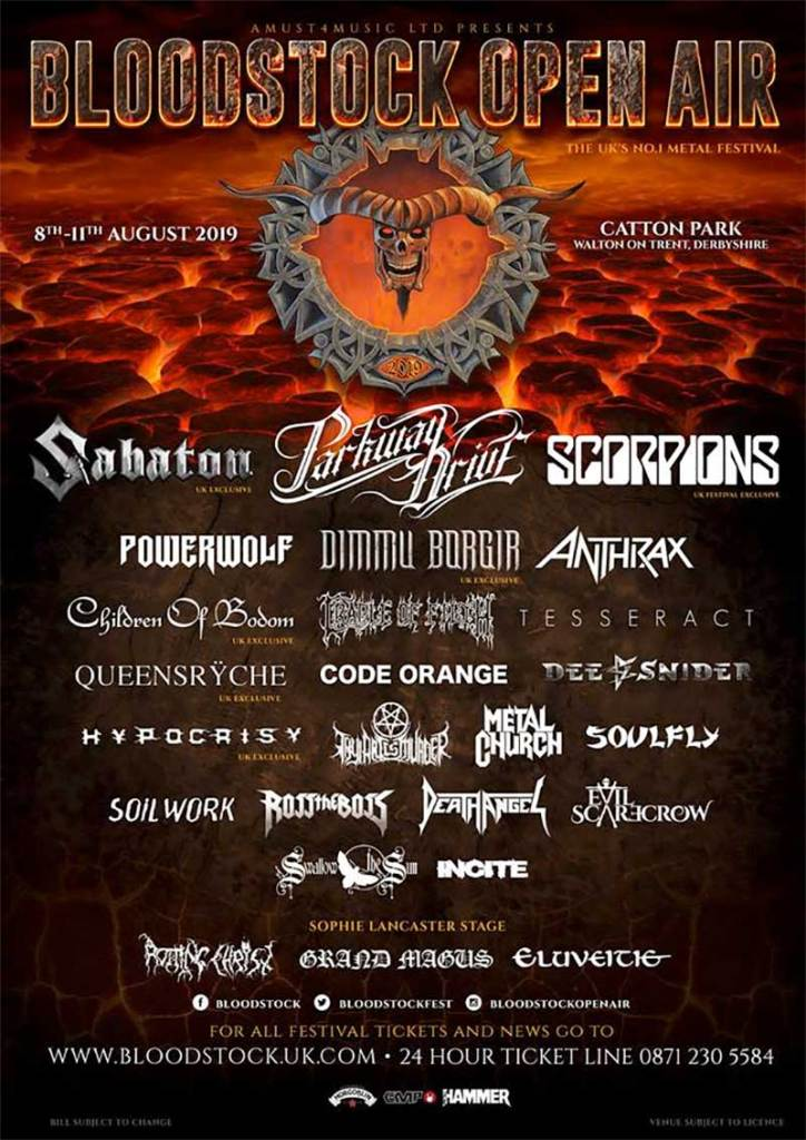 Bloodstock Open Air 2019 poster Parkway Drive