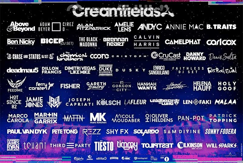 Creamfields UK 2019 poster